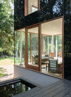 This spectacular house, located down a quiet lane overlooking woodland, was completed in 2013 to designs by the architect Ian McChesney. Clad in opaque black glass, the façade of the four-bedroom house reflects, magnificently, the sky, trees and gardens that surround it. It was sold by The Modern House in 2014. Ian McChesney's celebrated work crosses the […]