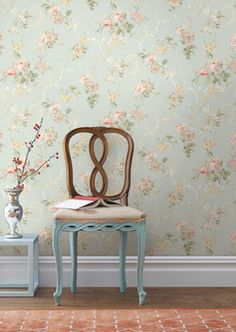 living room floral wallpaper - Google Search
