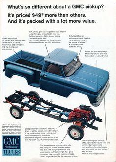 1966 GMC Pickup Truck Advertisement Readers Digest January 1966 by SenseiAlan… Gmc Suv, Gmc Pickup Trucks, Lifted Chevy Trucks, Gm Trucks, Chevy Pickups, Cool Trucks, Chevy C10, Dually Trucks, Diesel Trucks