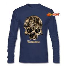Walking Dead Walker Skull Logo Prime  Long Sleeve Walking Dead Hoodie, The Walking Dead Movie, Skull Logo, People Around The World, Graphic Sweatshirt, T Shirt, Hoodies, Sweatshirts, Logos