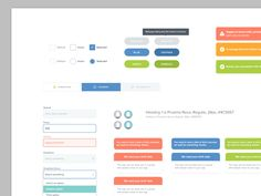 Working on our UI library, adding components as we go. Nothing set in stone. Trying to use colors more meaningfully.