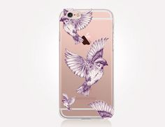 Transparent Birds iPhone Case  Transparent Case  Clear by CRCases