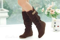 2018 new fashion Spring Autumn casual Flat boots princess sweet women boots stylish flat flock shoes fashion Mid-calf boots Lace Knee High Boots, Long Boots, Flat Boots, Mid Calf Boots, Suede Boots, Women's Boots, Heel Boots, Dress Boots, Combat Boots