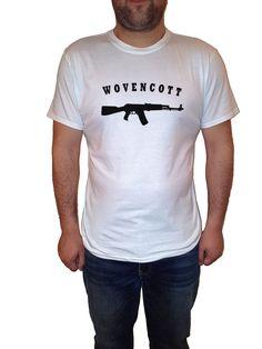 ak47 gun man tshirt