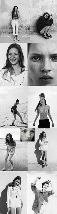 Kate Moss young the Face 1990 Corine Day
