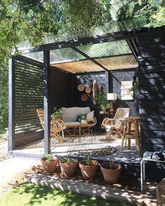 Small Backyard Patio, Backyard Patio Designs, Pergola Designs, Backyard Landscaping, Backyard Pools, Outdoor Rooms, Outdoor Living, Outdoor Decor, Small Outdoor Spaces