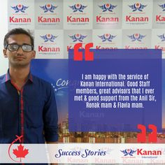 Congratulations Parth Panchal on attaining your student visa for #Canada! All the best from team Kanan International