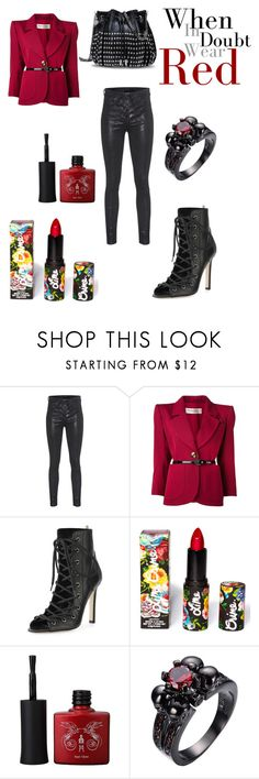 """""""Hello Again, Ms. Red"""" by sanestyle ❤ liked on Polyvore featuring rag & bone, Yves Saint Laurent, SJP, Lime Crime and STELLA McCARTNEY"""
