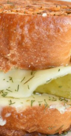 Dill Pickle Grilled Cheese Sandwich