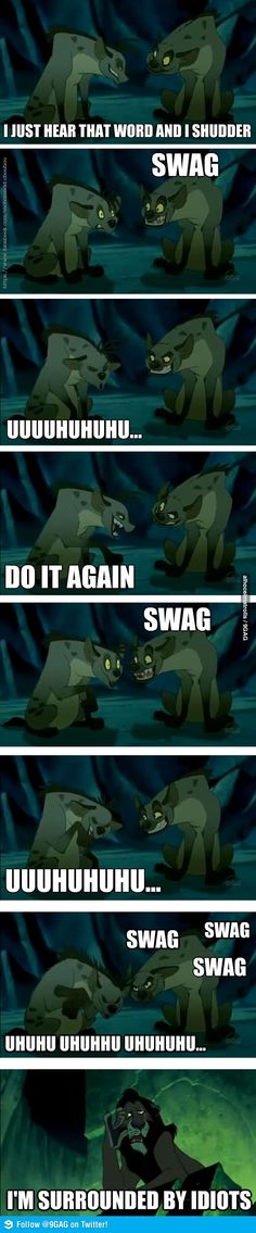 Swag...could also be replaced with YOLO...ugh