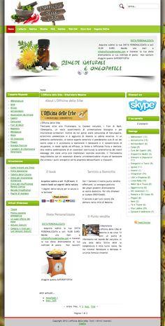 Sito web eCommerce per L'Officina delle Erbe di Messina - HomePage - Realizzato con Joomla 1.5 & OpenCart 1.5 - Anno 2012