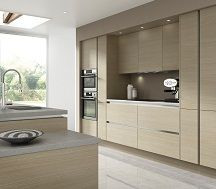 Novi - this modern oak textured style kitchen door is the perfect way to incorporate a classic design into a contemporary kitchen. http://www.moores.co.uk/Definitive-Kitchens/Range-Selection/Novi/123/0/2/8