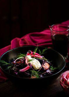 Geschmorter Rotkohl mit Kielbasa & Verbotenem Reis - Rhabarber & Kabeljau Kielbasa, Meat Recipes, Vegetarian Recipes, Braised Red Cabbage, Good Food, Favorite Recipes, Dishes, Group, Board