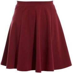 Mini Tall Dark Red Skater Skirt - LoLoBu