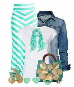 This looks super casual and fun. Love the shirt with a white T and would love a cute denim jacket in my closet. Love the color too!