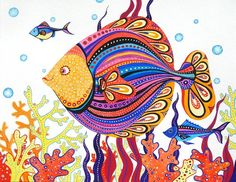 this seller has several super cute fishy illustrations
