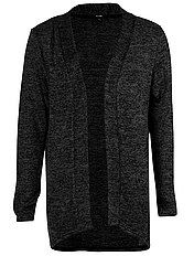 Fine-knit long waterfall cardigan