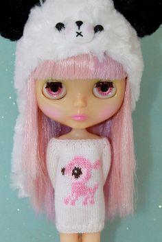 Neo BLYTHE  Dear DEER Sweater Tunic  Rose Pink  by DoLLYSToRY