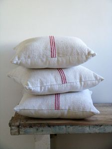 grain sack stripe pillow