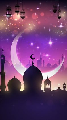 25 beautiful ramadan wallpaper for your iphone 41 - Holiday Everyday New Background Images, Theme Background, Eid Islam, Ramzan Images, Wallpaper Ramadhan, Watercolor Night Sky, Islamic Wallpaper Hd, Ramadan Wishes, Ramadan Background