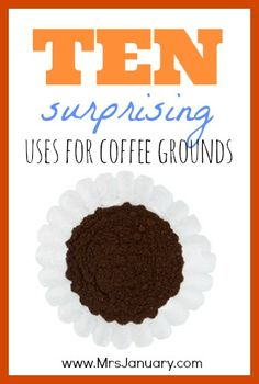 10 Surprising Ways to Use Coffee Grounds-For example--Add a teaspoon of coffee grounds to your facial cleanser for an easy, homemade exfoliating face wash.