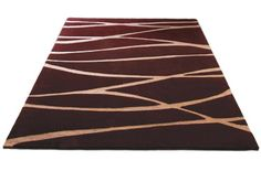 MAXI-BURGUNDY, BROWN  Hand tufted in 100% NZ wool.