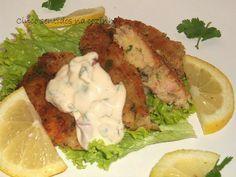 Cinco sentidos na cozinha: Pastéis de batata e sardinhas em conserva com maionese de limão e coentros
