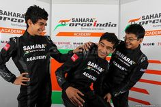 Sahara Force India Formula One Team Academy Drivers sharing a light moment.