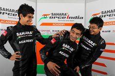 Sahara Force India Formula One Team Academy Drivers sharing a light moment.