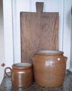 Mijn kringloopvondst van vandaag! Blij mee  #grespotten #koopje #wissel #home #kitchen #brocante #keuken #landelijkesfeer #old #potten