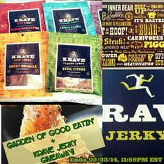 KRAVE Jerky Review + Giveaway | Garden of Good Eatin'