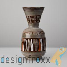 Fratelli Fanciullacci Pottery Vase Graphic Pattern Mid Century Modern Bitossi  #FratelliFanciullacci