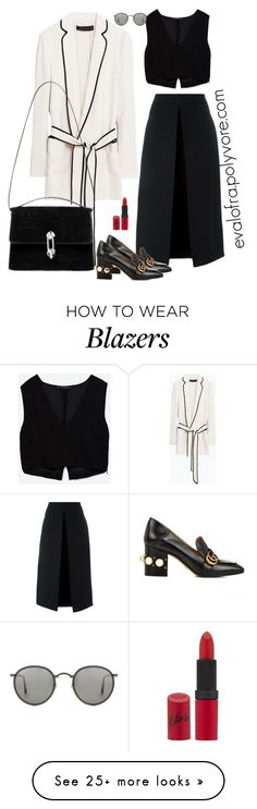 """Untitled #379"" by evalofra on Polyvore featuring Zara, Balenciaga, McQ by Alexander McQueen, Gucci, Ray-Ban, Rimmel, outfit and ootd"