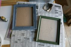 Updating cheap picture frames, DIY painting @Emily