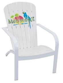 Faux Wood Stacking Adirondack Patio Chairs   These Margaritaville® Durable,  Long Lasting Faux