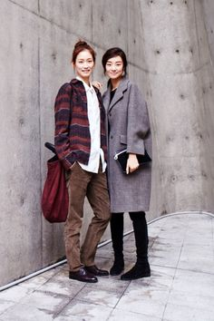 Street style: Sera Park and Stephanie Lee at Seoul Fashion Week Spring 2015