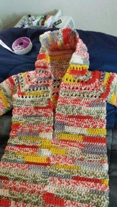 Crochet baby bunting.