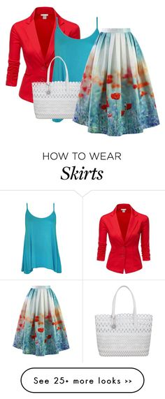 """Field of Roses: Statement Skirt 4"" by gummybear178 on Polyvore"