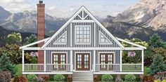 Wraparound Retreat with Options - 58559SV | Cottage, Mountain, Vacation, Narrow Lot, 1st Floor Master Suite, Bonus Room, CAD Available, Loft, PDF, Wrap Around Porch | Architectural Designs