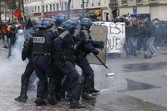 Awakening: Protesters clash with French police over labor ref...