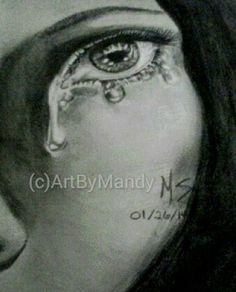 """""""Melancholy"""" by Mandy Sowell Graphite ~ 11"""" x 8.5"""""""
