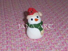 Snowman made with polymerclay!