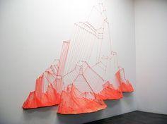 Aili Schmeltz - Fire Mountain String Art Installation (via All Sorts of Pretty)