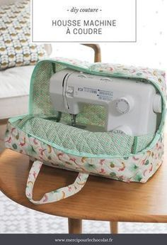 DIY - my Silvercrest Lidl sewing machine cover Coin Couture, Couture Sewing, Sewing Hacks, Sewing Tutorials, Sewing Tips, Dress Tutorials, Sewing Accessories, Sewing Projects For Beginners, Diy Projects