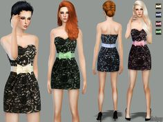 The Sims Resource: Lace of Your Own Dress by Zodapop • Sims 4 Downloads