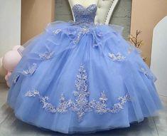 Light Blue Quinceanera Dresses, Plus Prom Dresses, Mexican Quinceanera Dresses, Pretty Prom Dresses, Quince Dresses, Sweet 16 Dresses, 15 Dresses, Beautiful Dresses, Cinderella Quinceanera Themes