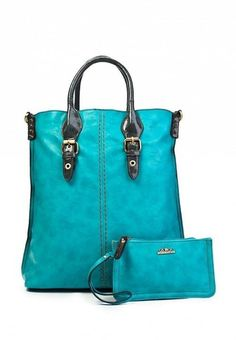 Bag and purse in blue  #turquoise #bag #handbag #clutch #designer