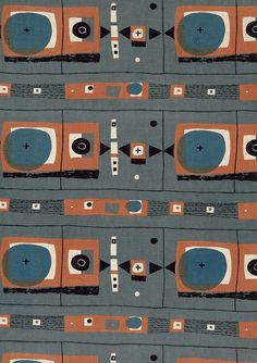 'Applecross' furnishing fabric, 1954 // by Robert Stewart for Liberty & Co
