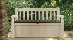 Outdoor Garden Patio Deck Box Bench in Beige and Keter 70 Gallon Bench Deck at The Home Depot 70 Gallon Bench Deck at The Home Depot