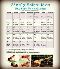 May ab challenge- next 30 day challenge for me! Buttram Casto Brandon might like this as well (Summer Days Ab Challenge) Push Up Challenge, Workout Challenge, Challenge Group, Skinny Motivation, Fitness Motivation, 30 Day Ab Workout, Wod Workout, Workout Plans, 30 Day Push Up